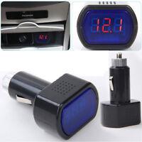 LED Auto Car Digital Cigarette Lighter Volt Voltage Gauge Meter 12V/24V Fast US