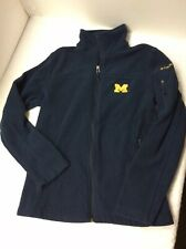 Columbia Women's S Fleece Jacket University Of Michigan Embroidered Maize Blue