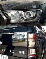 HEADLIGHT TAIL LIGHT COVER FORD RANGER T6 XL XLT PX2 MK2 GREY WILDTRAK 2015-2017