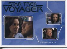 Star Trek Voyager H&V Relationships Chase Card R13 Tom Paris and Alice