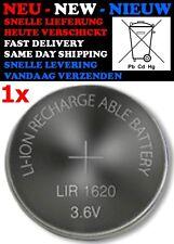 LIR 1620 (3,6V 12mAh) Rechargeable Battery Knoopcel Pile Batteria CR2016