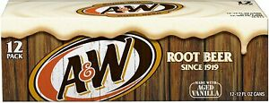 A&W Root Beer Org. 12 oz. (355 mL) - Pack of 12 Cans (BBF September 2021)