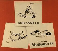 Karikatur/Cartoon. – Giovannetti. Aus meiner Menagerie. EA 1951