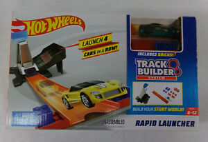 Hot Wheels Track Builder System Rapid Launcher Playset & Car NEW IN BOX