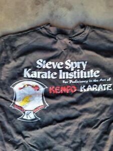 Vintage single stitch dare d.a.r.e. kenpo karate tee shirt t-shirt sz L large $$