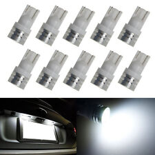 10x White T10 Wedge 1W High Power SMD LED Side Marker/License Plate Light Bulbs
