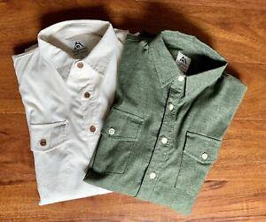 Bighorn Hemp/Poly/Spandex Performance Chambray Work Shirts Slim Medium Outlier