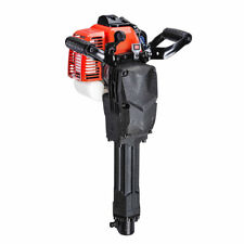 2 Stroke 52 cc Gas Demolition Jack Hammer Drill Concrete Breaker with Chisels