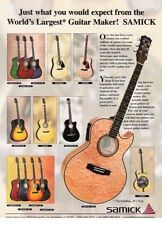 2000 PRINT AD Samick GUITAR Just What You Would Expect
