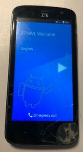 ZTE Z799vl Cell Phone Black (Tracfone) Fast Ship Good Used Parts Repair Locked