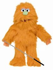 Silly Puppets Orange Monster Glove Puppet Bundle 14 inch with Arm Rod