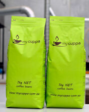MYCUPPA Fresh Roasted Coffee Beans 2x 1kg Espresso Award Winner Delivered