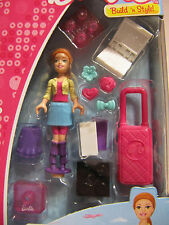 MEGA BLOKs SET 80203 Barbie Build n Style Vacation Time notebook luggage friends