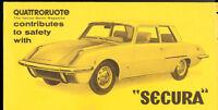 1968 Fiat 1500 Secura OSI Quattroruote Sales Brochure