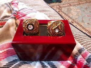 Roberto Clemente - Pittsburgh Pirates 2 World Seried Ring Set With Wooden Box