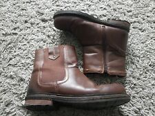 Hobbs Brown Chelsea Style Boots Size 9 Pull On