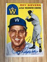 Roy Sievers Washington Senators Signed Autographed 1954 Topps #245 Card Vintage