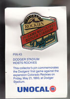 VINTAGE L.A. DODGERS UNOCAL PIN (UNUSED) - 1ST GAME DODGER STADIUM 1993