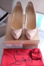 Authentic CHRISTIAN LOUBOUTIN Rolando Pumps 120mm Nude Patent Size 36
