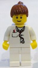 ☀️NEW LEGO Minifig Doctor Female Girl w Stethoscope nurse hospital minifigure