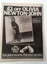 OLIVIA NEWTON-JOHN Olivia album 1978 UK Poster size Press ADVERT 16x12 inches