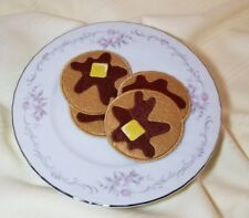 Felt pretend play food - ONE PANCAKE - embroidery - handmade NEW