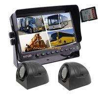 "7"" DVR Monitor 2 x Caravan Side Camera Kit Car Backup Camera Truck Trailer RV"