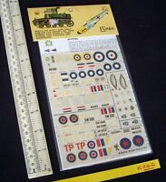 * 1970s Vintage ESCI Italy Aftermarket Decals & Instr. Spitfire & Typhoon (C242)