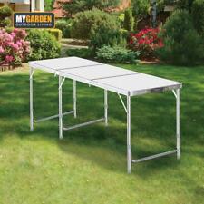 6FT Portable Adjustable Aluminium Alloy Folding Table Camping Outdoor Picnic BBQ