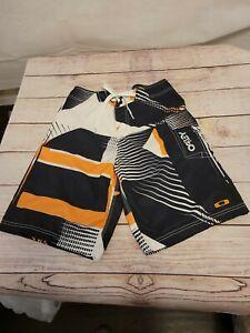 Oakley  Board Shorts Men's 30 Board Shorts Swim Trunks Black Orange Pocket