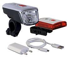 Vancouver LED Fahrradlampe 40 Lux Li-ion Akku USB Ladegerät gem. StVZO neu