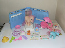 Vintage My Little Pony G1 Grooming Parlour Set + Baby Bowtie Carriage 80's