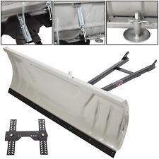 "Steel ATV Snow Plow Adjustable 48"" Blade Complete Universal Kit Package"
