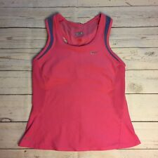 e3cdc948aa Womens Nike Fit Pink Workout Yoga Tank Top Shirt Built-in Bra Small  6