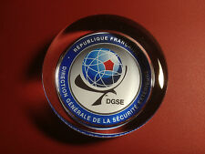 DGSE ( French Secret Police  Agency)  70mm  HEAVY GLASS PAPERWEIGHT
