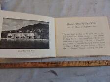 Rare 1920 Lake Como Italy Cernobbio Villa D'este Hotel Brochure 20-p map