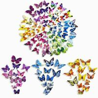 US 3D Butterfly Wall Stickers Decal Removable Mural Home Room Nursery Decor