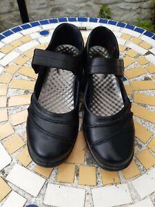 Cushion Walk Women's Adjustable Strap Mary Jane Comfort Shoes UK 7