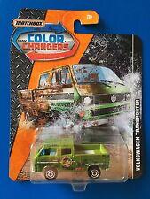 2017 Matchbox COLOR CHANGERS (VERSION 2) 1990 VOLKSWAGEN TRANSPORTER CREW CAB!