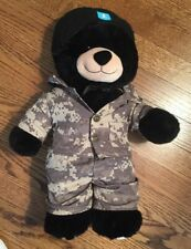 Build-a-Bear Workshop - 16 in Black Bear with Army Uniform - Perfect