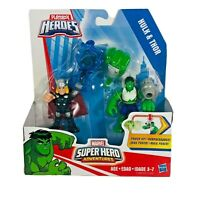 Playskool Heroes Hulk & Thor Action Figures Marvel Super Hero Adventure Power Up