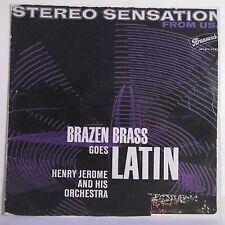 """33T Henry JEROME Orchestra Vinyl LP 12"""" BRAZEN BRASS GOES LATIN BRUNSWICK 267076"""