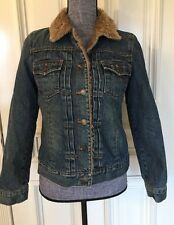 Gap Women's Size Small  Denim Jacket With Artificial Fur