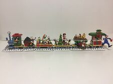 "Danbury Mint Vtg Disney ""Mickey's Christmas Train 6pc Figurine Set Orig Box"