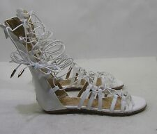 Summer White Womens Shoes Roman Gladiator Lace Up Sexy Sandals Size  8