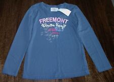 Girls H&M Blue Vintage Print Long Sleeve Top Sweater Jumper Age 6-8 Years - NEW