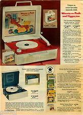 1976 PAPER AD Record Player Winnie Pooh Tigger Portable Album Storybook Disney