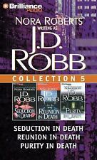 J. D. Robb CD Collection 5: Seduction in Death, Reunion in Death, Purity in Deat
