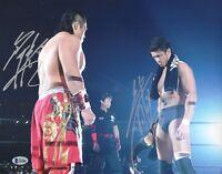 Yujiro Takahashi /& Hikuleo Signed 8x10 Photo BAS COA New Japan Pro Wrestling BC