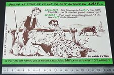 BUVARD 1950 PRODUITS LAITIERS CAMPAGNE POUR LE LAIT FILLETTE ET BEBE